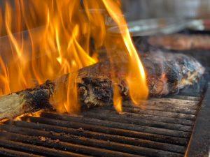 Flamed Steak
